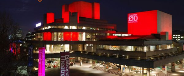 The Royal National Theatre at night